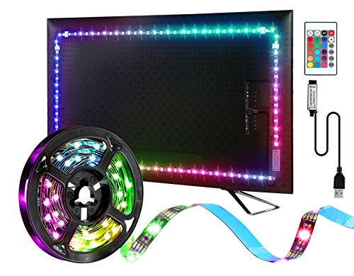 Led Lights Backlight 9.84Ft for 32-65 inch Tv RGB Color Changing USB Powered Tv Backlights with Remote Gaming Lights Ambient Lighting Kit