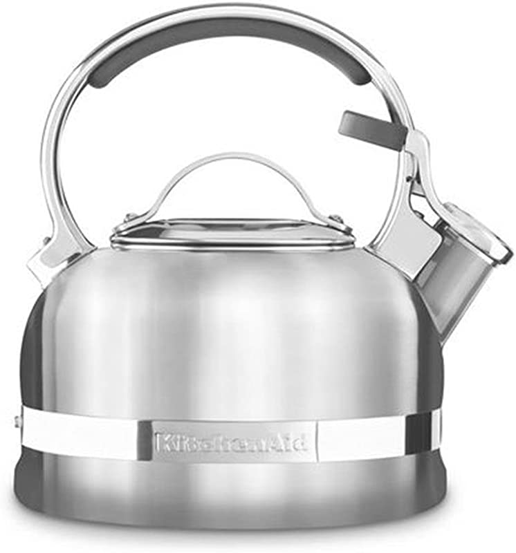 KitchenAid KTST20SBST Stainless Steel Non Electrical Stove Top Kettle 1 9 Litre