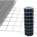 Gartenzaun Anthrazit - 25m Länge x 0,8 m Höhe + kostenloser Versand / Maschendraht Zaun Gitterzaun Maschung 10x7,5 cm Schweißgitter Wildzaun 25m x0,8m