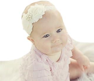 Miugle Baby Girls Shabby Chic Flower Headbands Baby Christening Headbands