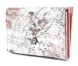 YNOT BAL-346F0 Compact Wallet, Ballerina Spartito, Portafogli Donna, Rosa, 14x2,5x10 (W x H x L)