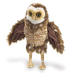 Folkmanis Burrowing Owl 11 inch Hand Puppet