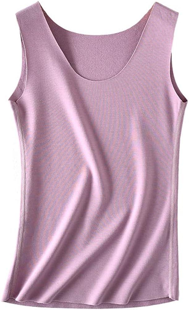 Dazidec Women's Ultra Thin High Elasticity Soft Seamless Thermal Underwear Tops