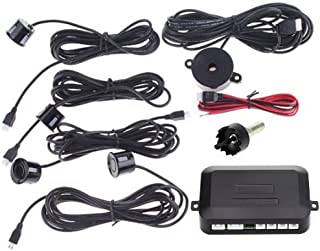 Docooler Automotive Car Parking Reverse Backup Radar Sound Alert + 4 Sensors - Black