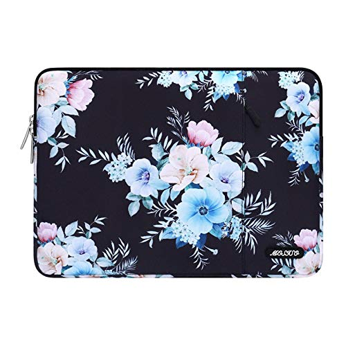 MOSISO Laptop Sleeve Case Compatible with 13-13.3 inch MacBook Pro, MacBook Air, Notebook Computer, Trumpet Creeper Polyester Vertical Bag with Pocket