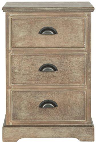 Safavieh Beistelltisch mit DREI Schubladen, Holz, mokkafarben, 43 x 33 x 66.04 cm