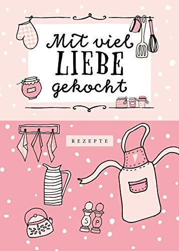 Rezeptbuch zum Selberschreiben in rosa: Kochbuch Selbstschreiben | Rezeptsammlung für 50 Rezepte & 6 Menüs | DIY Rezeptsammlung mit stabilem Hardcover und Inhaltsverzeichnis