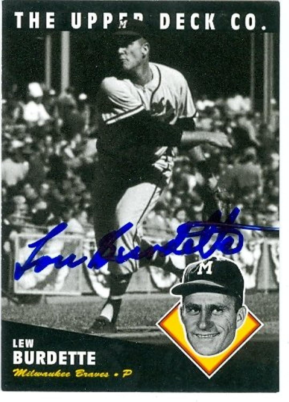 Lew Burdette Baseball Card Milwaukee Braves 1994 Upper Deck 92 All