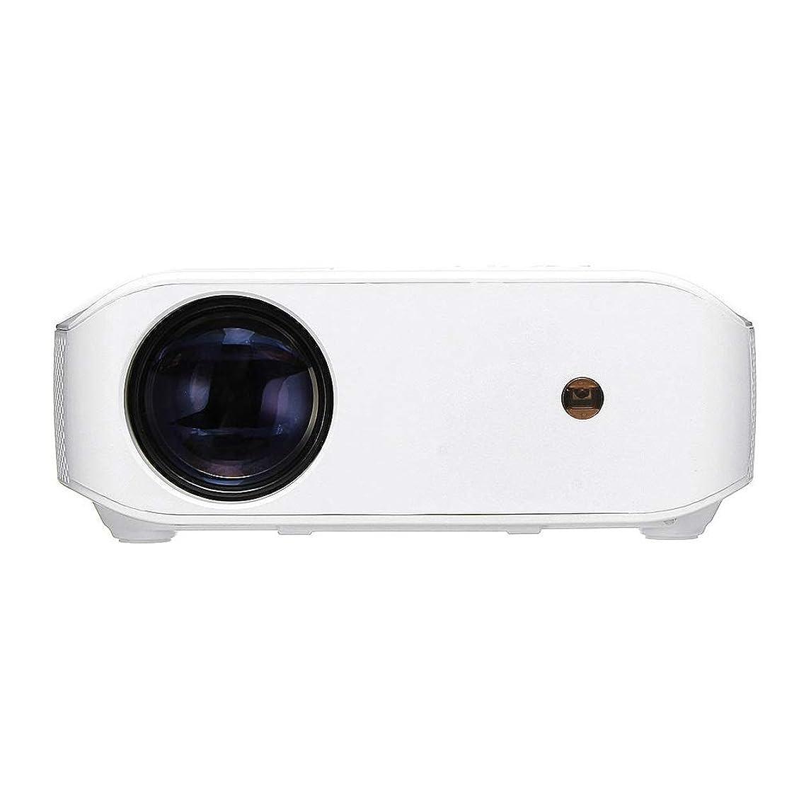 コマース社員本物のプロジェクター エンターテインメント教育のためのAndroidのバージョンLCDプロジェクター小型LEDプロジェクター データプロジェクター (色 : 白, サイズ : ワンサイズ)