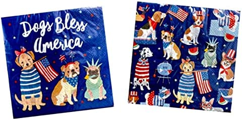 Daily bargain sale Latest item Clementine Paper Dogs Bless America Beverage Size Decoupage