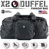Mission Darkness X2 Faraday Duffel Bag + Detachable MOLLE Faraday Pouch // RF Shielding for Large Electronics & Mobile Devices // Used for Law Enforcement & Military Forensics + Data Privacy