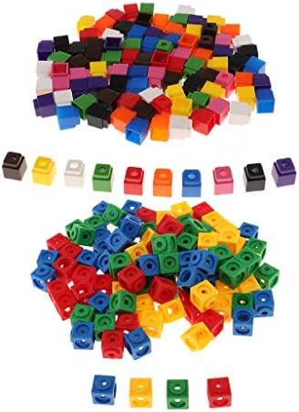 Harilla 200 stuks kinderen baby cadeau wiskunde link kubus skills aids starter 4 kleuren