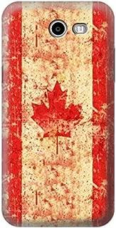 R2490 Canada Maple Leaf Flag Texture Case Cover For Samsung Galaxy J3 (2017)