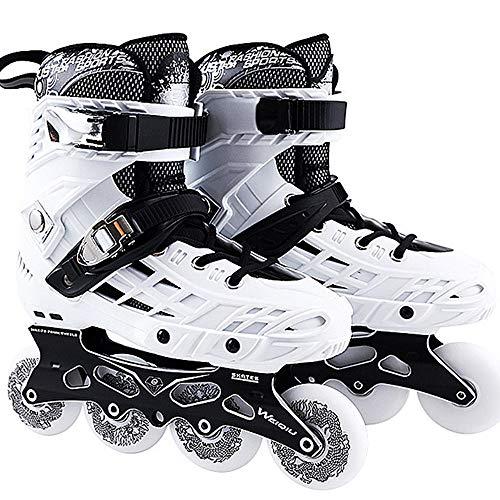 Patins em linha Patins em linha masculino patins em linha, 2 em 1 adulto Fitness em linha, patins confortáveis ??para homem, adulto,White-41