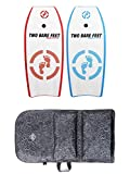 Two Bare Feet 42' Bodyboard Bundle - 2 x 42 'Future' Bodyboards of your choice + Premium Double Carry Bag (Future (Blue)+Future (Red)+Grey Bag)