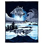Lavish Home Wolf Heavy Thick Plush Mink Blanket - 8 Pound
