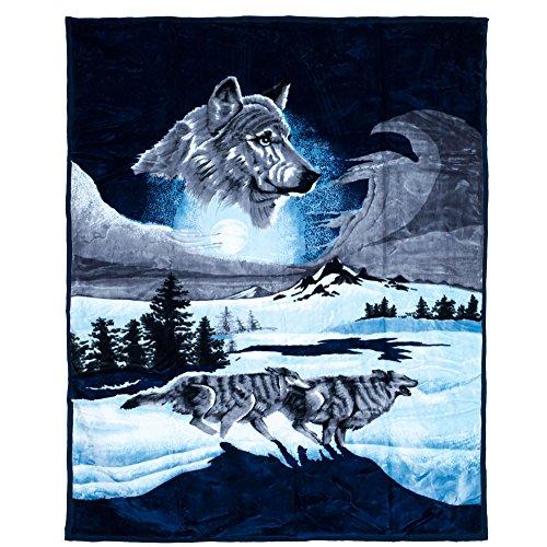 Lavish Home Heavy Thick Plush Mink Blanket-8 Po& Wolf-Decke aus schwerem, dickem Plüsch, 3,6 kg, Polyester, Mehrfarbig