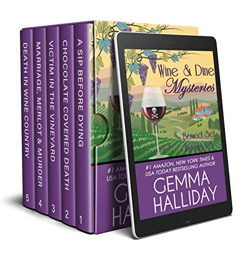 Wine & Dine Mysteries Boxed Set (Books 1-5) by [Gemma Halliday]