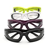 Onion Goggles Glasses 4 Pieces, Anti-Fog No-Tears Kitchen Gadget for Chopping Onion Cooking Grilling Dust-proof, Eye Protector with Inside Sponge Onion Glasses for Women Men Kitchen Tool