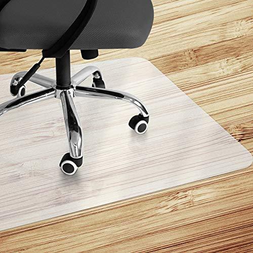 VPCOK Chair Mat Office Chair Mat, 90x120cm (3'x4') Office Floor Protector Mat, Non-Slip Protector Mat for under Office Chair, Hard Floor, Home
