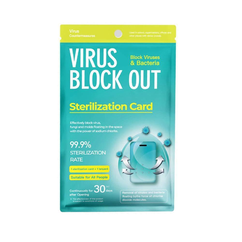 Tarjeta de esterilización de aire para desinfección de esterilización de aire, tarjeta de protección para el hogar, escuela, empresa, hospital, tráfico, 1 unidad: Amazon.es: Hogar