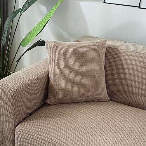 TodGH Almohada cabecera de Cama Minimalista Moderna de Color sólido con Funda de Almohada Lavable Adecuado para cojín de sofá Cama de Dormitorio-Caqui_Los 40 * 40cm