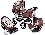 Urbano Kombikinderwagen Kinderwagen Babyschale 3in1 System Autositz...