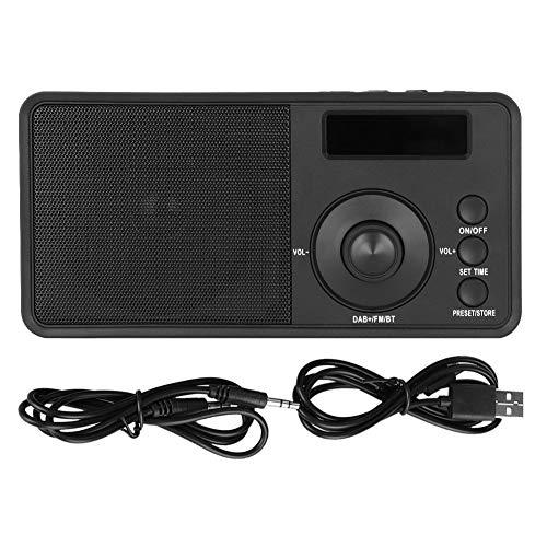 Zerone DAB Digital Radio FM Bluetooth Speaker USB Charging Stereo Syetem Digital Mini Portable Mp3 Player for Outdoor Activities