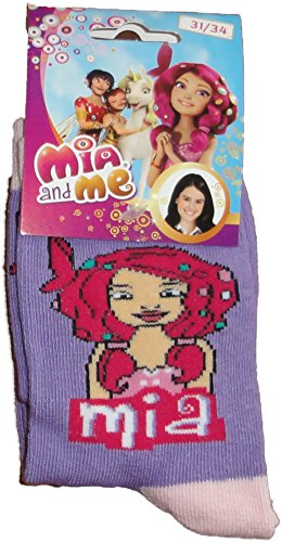 Mia and Me Socken in Lila Gr. 35-37