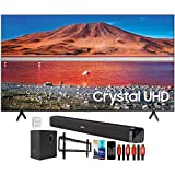 SAMSUNG UN58TU7000 58' 4K Ultra HD LED TV (2020) with Deco Gear Home Theater Bundle