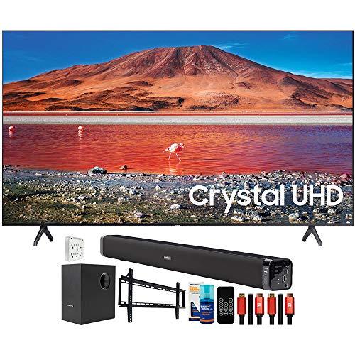 "SAMSUNG UN55TU7000 55"" 4K Ultra HD LED TV (2020) with Deco Gear Home Theater Bundle"