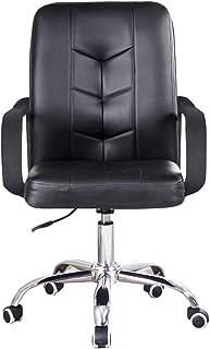 GAOPANG Silla Oficina ergonomica Silla De Estudio Sillas para escritorios de Oficina con reposabrazos Respaldo Medio ergonómico Desigm 360 ° Giratorio Altura Ajustable