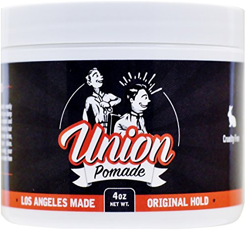 Union Hair Pomade 4oz Firm Medium Hold with Natural Shine - Water Based! All Day Hold, Paraben...