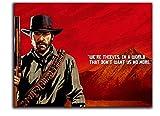 Red Dead Redemption 2 - Lienzo decorativo para pared (40,6 x 30,4 cm), diseño de Arthur Morgan