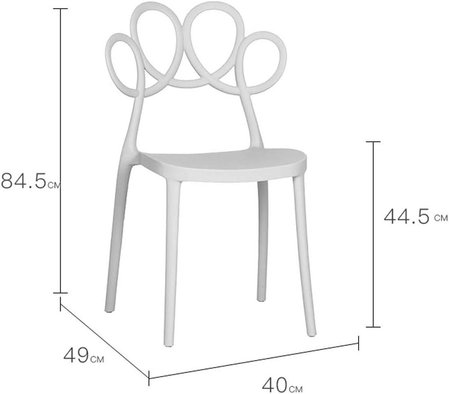 Président WGZ- Chaise de Salle, Chaise de Bureau Simple, créative Dossier, Chaise Loisirs, Maison Adulte Chaise de Salle Simple (Color : Light Grey) Light Grey