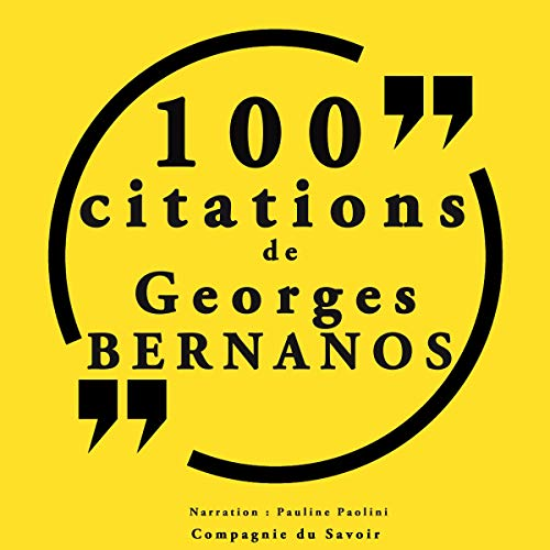 Couverture de 100 citations Georges Bernanos