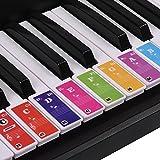 Klavier + Keyboard Aufkleber für 37/49/ 61/88 schwarze + weiße Tasten Noten lernen für Kinder und Erwachsene Piano Sticker