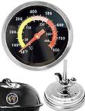 Home Tools.EU–Analógica Resistente a la Temperatura de Barbacoa termómetro de Cocinero (para actualización para ollas Barbacoa Asador Horno para ahumar, 10°C–400°c