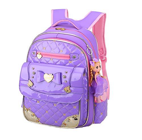Girls Backpack,Gazigo Waterproof Girl Bookbag with bows Back to School Gifts