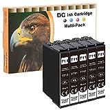 D&C Cartuchos de tinta compatibles con Epson T0711 T0712 T0713 T0714 para Epson Office BX-300F BX-310FN BX-510W BX-600FW BX-610FW Stylus D120 D78 D92 DX-4000 DX-4050 DX-5000 DX-5050 5x 15ml Black