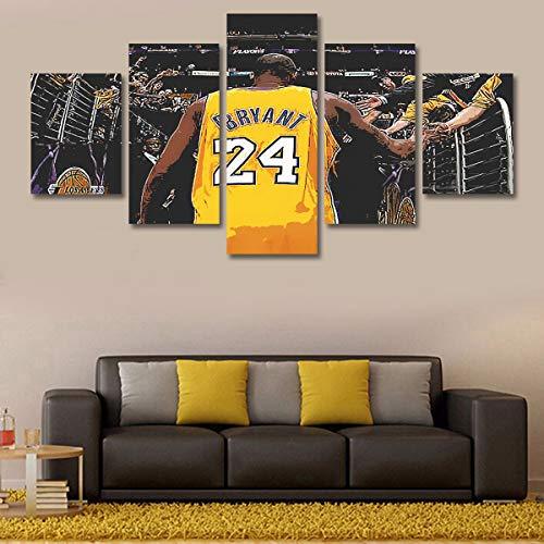 Wegji NBA Superstar Pittura A Cinque Vie Personalizzato Bryant Poster d'Arte Moderna Pittura Decorativa S: 8X12-2P 8X16-2P 8X20-1P Nucleo più Telaio Interno