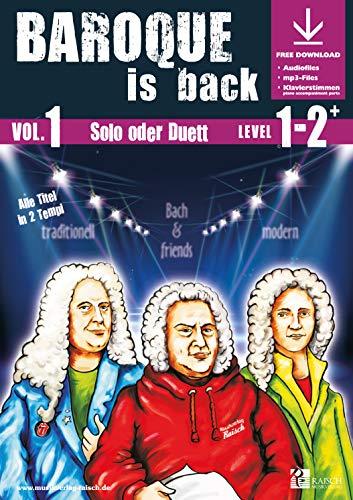 Baroque is back Vol.1 für Trompete Bb (play-along / Notenheft mit Begleit-CD)