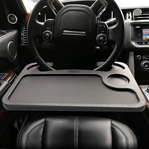 Elxf Mesa de tarjeta de conductor multifuncional para coche, adecuada para viajeros constantes, adecuada para la mayoría de volantes de vehículos y volantes.