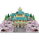 QIXUN Sakura Tree Scenery Building Set con Luz Y Placa De Base 2529+ Piezas Sakura Blossom Construction Building Model Kit