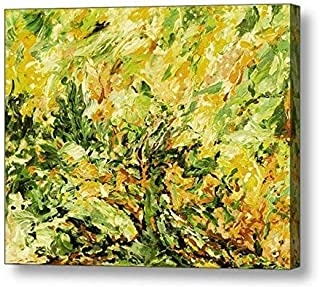 "Sunshine Daydream, Lemon Lime - 11.13""H x 14""W Canvas Print"