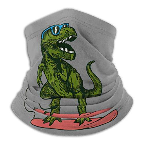 Neck Warmer Feliz Dinosaurio Surfista con Gafas De Sol Dibujo Bandana Protección contra El Polvo Al Aire Libre Motocicleta Reutilizable Sol UV Sin Costuras Cuello Polaina Pasamonta