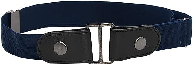 WINLISTING Sin Hebilla Cinturón Elástico Cinturón Desmontable Cinturón Elástico Invisible Unisex para Pantalones Vaqueros