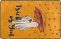 ハロウィーンゴーストトリックオアトリートイェートスーパーソフトインドアモダンエリアラグふわふわラグダイニングルームホームベッドルームカーペットフロアマットベビーキッズ犬猫60x39インチ-80x58インチ
