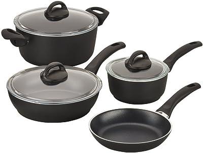 BALLARINI Pisa Forged Aluminum Nonstick Cookware Set, Black
