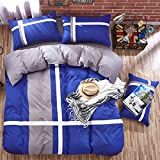 BFMBCH Explosion Modelle einfarbig dunkelblau Doppel Zauber Kreuz Streifen Sport Wind Bettlaken Schleifbett Paket Vier Sätze Marineblau 150cm * 200cm